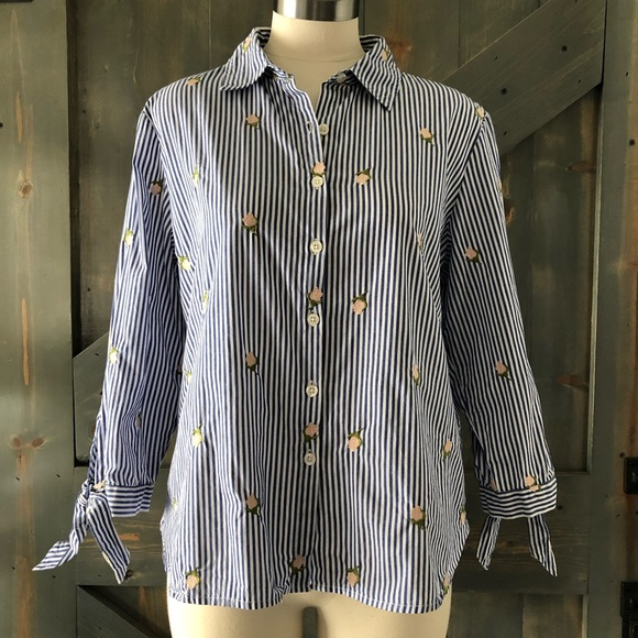 Marc New York Andrew Marc Tops - Marc New York Andrew Marc Embroidered Shirt Size M